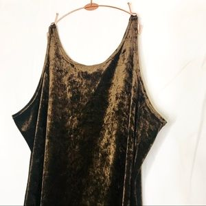 Plus Size Chocolate Velvet Nightie / Mini Dress